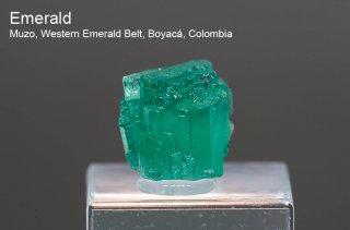エメラルド 結晶石 コロンビア産|Muzo, Western Emerald Belt, Boyaca, Colombia|緑柱石|Emerald|1253|
