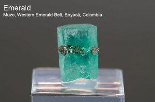 エメラルド 結晶石 コロンビア産|Muzo, Western Emerald Belt, Boyaca, Colombia|緑柱石|Emerald|2512A|