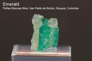 エメラルド 結晶 コロンビア産|緑柱石|Penas Blancas Mine, San Pablo de Borbur, Boyaca Colombia|Emerald|2057A|