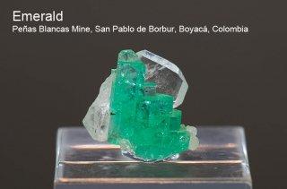 エメラルド 結晶 コロンビア産|緑柱石|Penas Blancas Mine, San Pablo de Borbur, Boyaca Colombia|Emerald|2004A|