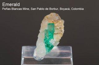 エメラルド 結晶 コロンビア産|緑柱石|Penas Blancas Mine, San Pablo de Borbur, Boyaca Colombia|Emerald|2026A|