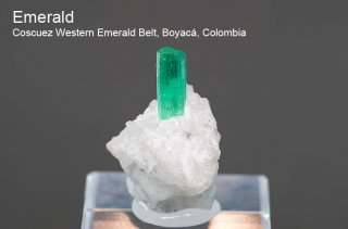エメラルド 結晶 コロンビア産|緑柱石|Coscuez Western Emerald Belt, Boyac, Colombia|Emerald|2453A|