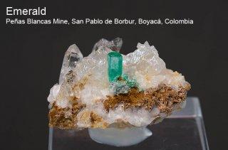 エメラルド 結晶 コロンビア産|緑柱石|Penas Blancas Mine, San Pablo de Borbur, Boyaca Colombia|Emerald|2451A|