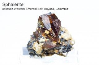 スファレライト 結晶 コロンビア産| coscuez Western Emerald Belt, Boyac, Colombia|Sphalerite|閃亜鉛鉱|2602A|