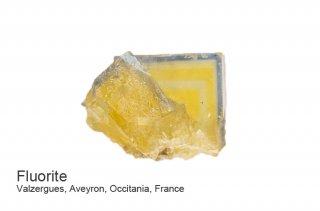 フローライト 結晶石 フランス産|ブルーライン|イエローフローライト|Valzergues, Aveyron, Occitania, France|蛍石|Fluorite|