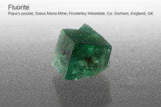 【Papa Pocket】フローライト 結晶石 イングランド産|ダイアナマリア|発光|Papa Pocket, Diana Maria Mine UK|蛍石|
