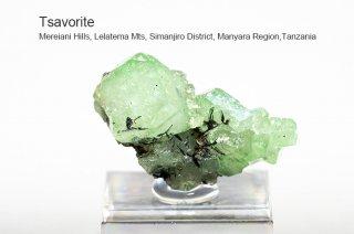 ツァボライト 結晶 タンザニア産|Mereiani Hills, Lelatema Mts, Tanzania|TSAVORITE|灰ばん柘榴石|