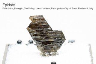 エピドート 結晶石 イタリア産|Falin Lake, Usseglio, Viu Valley, Piedmont, Italy|Epidote|緑簾石|