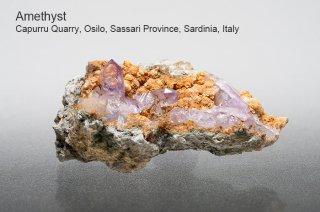 アメジスト 結晶 イタリア産|Capurru Quarry, Osilo, Sassari Province, Sardinia, Italy|Amethyst|紫水晶|