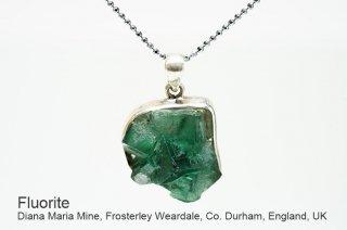 フローライト 結晶ペンダント イングランド産|ダイアナマリア|蛍光|Diana Maria Mine UK|蛍石|SV925|