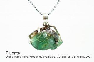 フローライト 結晶ペンダント イングランド産|ダイアナマリア|発光|Diana Maria Mine UK|蛍石|SV925|