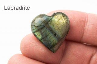 【ハート】ラブラドライト ハート型お守り石 マダガスカル産|Labradrite|曹灰長石|