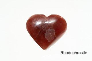 ロードクロサイト お守り石 ペルー産|Rhodochrosite|ハート型|菱マンガン鉱|