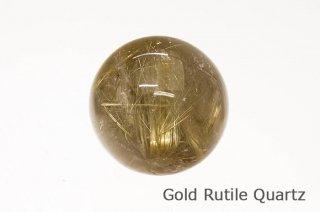ゴールドルチルクォーツ 丸玉 ブラジル産|ブラジル産|Brazil|Rutile Quartz|
