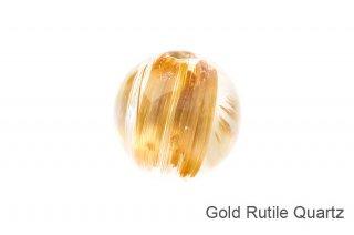 【ビーズ】ゴールドルチルクォーツ SA 11mm ブラジル産|Gold Rutile Quartz|1粒販売|