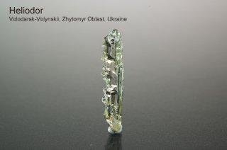 ヘリオドール 結晶 ウクライナ産|Volodarsk-Volynskii, Zhytomyr Oblast, Ukraine|Beryl|Heliodor|緑柱石|ベリル|ゴールデンベリル|
