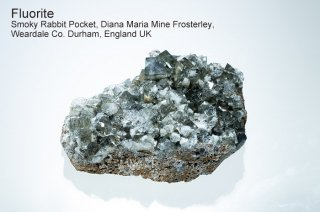【Smokey Rabbit Pocket】フローライト 結晶石 イングランド産|ダイアナマリア|発光|Smokey Rabbit Pocket, Diana Maria Mine UK|蛍石|