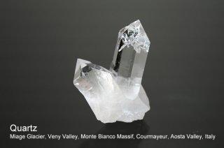 クォーツ 結晶 イタリア産|Miage Glacier, Veny Valley, Monte Bianco Massif,  Valley, Italy|Quartz|水晶|