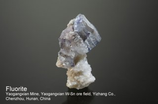 フローライト 結晶 チャイナ|Yaogangxian Mine, Yaogangxian W-Sn ore field Yizhang Co., Chenzhou, Hunan China