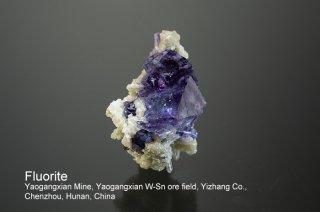 フローライト 結晶 チャイナ Yaogangxian Mine, Yaogangxian W-Sn ore field Yizhang Co., Chenzhou, Hunan China