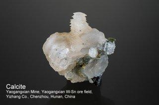 カルサイト 結晶 チャイナ|方解石|Yaogangxian Mine, Yaogangxian W-Sn ore field Yizhang Co., Chenzhou, Hunan China