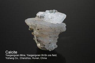 カルサイト 結晶 チャイナ 方解石 Yaogangxian Mine, Yaogangxian W-Sn ore field Yizhang Co., Chenzhou, Hunan China