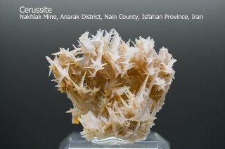 セルサイト 結晶 イラン産 Cerussite 白鉛鉱 Nakhlak Mine, Anarak District, Nain County, Isfahan Province, Iran 