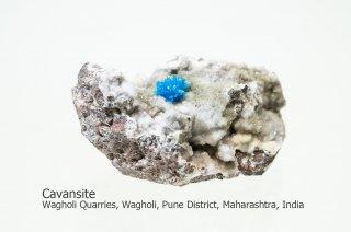 カバンサイト 結晶 インド産 カバンシ石 Wagholi Quarries, Wagholi, Pune District, Maharashtra, India Cavansite 