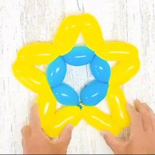 【簡単バルーンアート】お星様の作り方