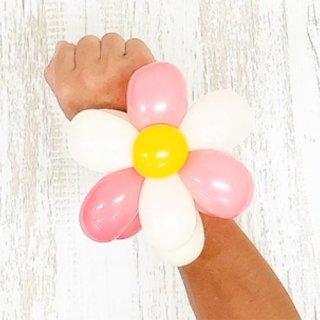 【簡単バルーンアート】2枚重ねの花びらの作り方