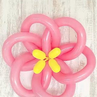 【簡単バルーンアート】大きな花びらの作り方