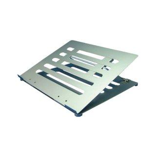 ノートパソコン用 PCスタンド 4段階稼動式 角度調整可能 シルバー AME-NPC01