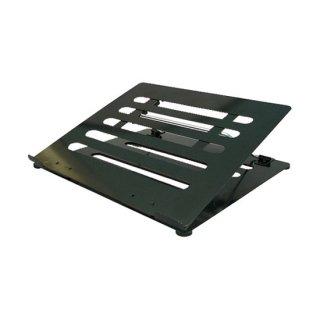 ノートパソコン用 PCスタンド 4段階稼動式 角度調整可能 ブラック AME-NPC01bk