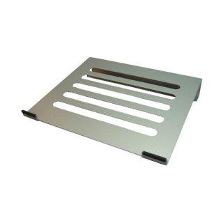 ノートパソコン用 PCスタンド 角度固定タイプ メタル シルバー AME-NPC02