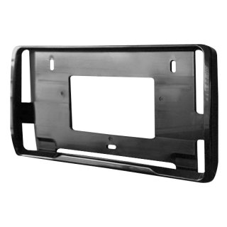 ナンバープレートフレーム ABS樹脂製 ブラック 2枚セット AMEX-A11B