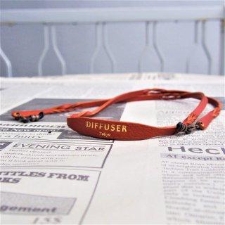 DIFFUSER TWISTED LEATHER SOFT BRACECORD/Orange