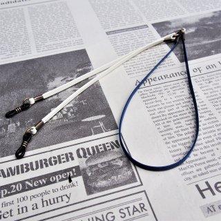 DIFFUSER TWO TONE GENUINE LEATHER GLASS CODE / Blue × Off White