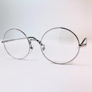 日本製丸眼鏡 レンズサイズ54mm シルバー