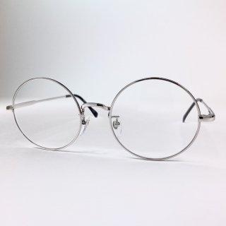 日本製丸眼鏡 レンズサイズ52mm シルバー