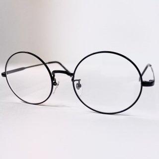 日本製丸眼鏡 レンズサイズ52mm ブラック