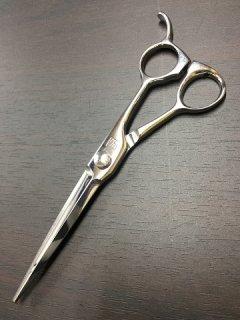 【研磨済】サクシード シャイニー5.8 カットシザー 5.8インチ 片剣刃 オフセットハンドル