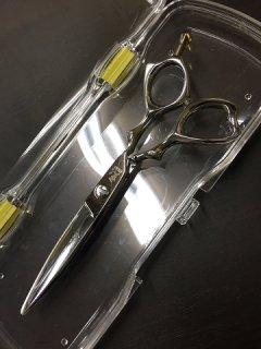 【美品】光シザー B-DRY COSMOS163 5.6インチ カットシザー 笹刃 3Dハンドル ヒカリ ビードライコスモス