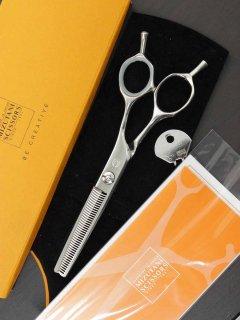 【美品】ミズタニシザーズ Pixy THINNING 40 セニング 6インチ 3Dメガネハンドル 40目 約30%〜35%