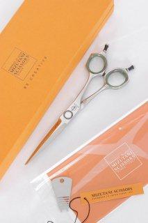 【美品】ミズタニシザーズ STELLITE alloy 155 カットシザー 5.5インチ 両剣刃 3Dメガネハンドル