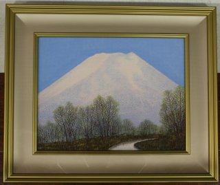 桝田隆一「早春の富士」日本画