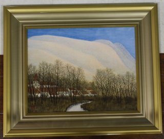 桝田隆一「早春のドイツ風景」日本画