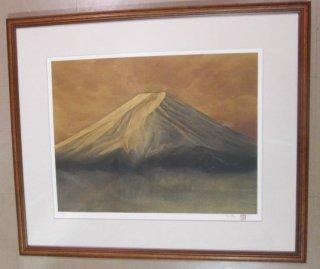 松本哲男 「富士」  リトグラフ