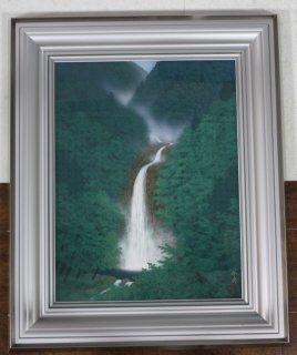 遠山幸男「新緑瀑布」 日本画