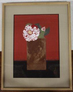 吉田多最 「一輪」  日本画