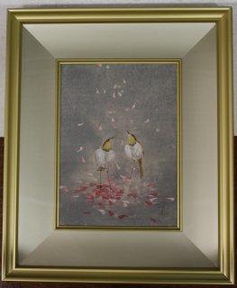 中野嘉之 「舞桜」  日本画